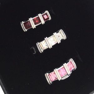 Jewelry - Sterling Silver Plated Ruby Cubic Zirconia Ring